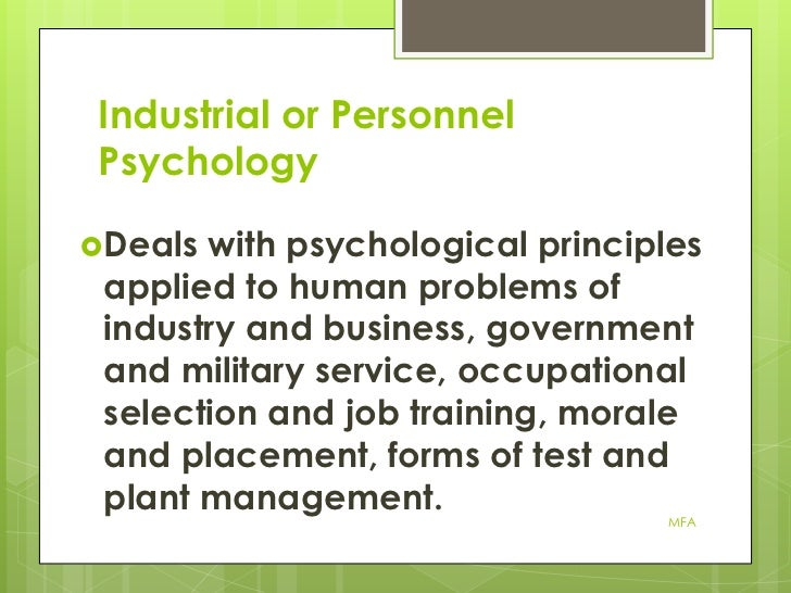 industrial and personnel psychology essay Abstract this paper examines recent changes in the field of industrial organization psychology (i/o) practices particular reference as to why such practices have increased in importance in the workplace and the benefits that can be derived.