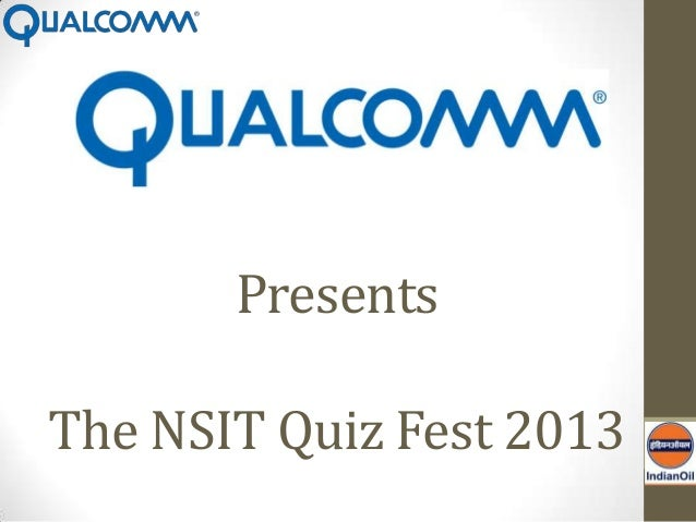 The General Quiz (Finals)- NSIT Quiz Fest 2013