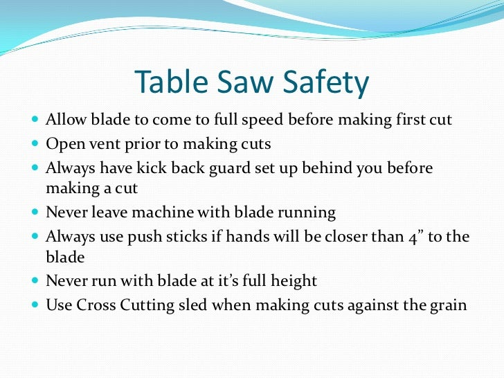 Safety rules when using a tenon saw adventure gear for Table design rules