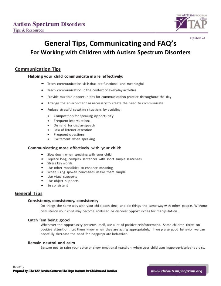 General Tips, Communicating and FAQ's