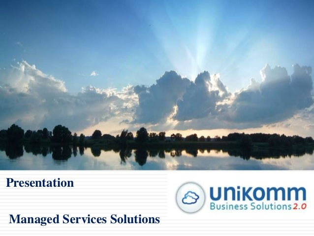 Presentation Managed Services Solutions