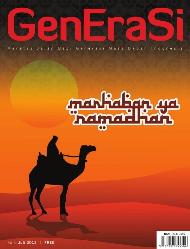 Majalah Generasi edisi 7 Juli 2013