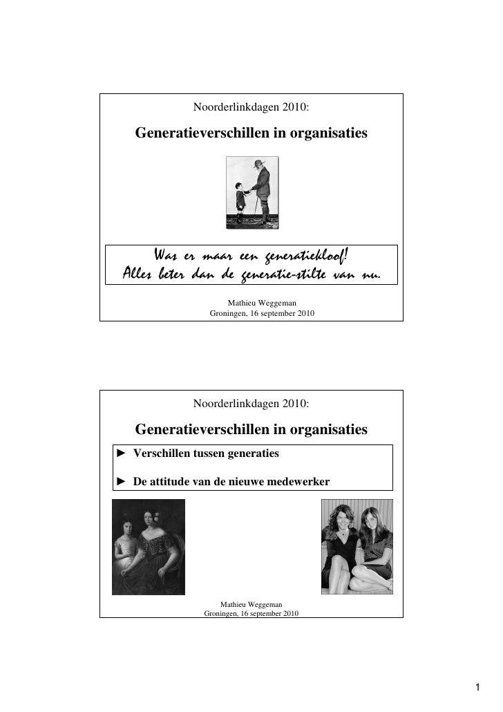 Generatieverschillen - Mathieu Weggeman