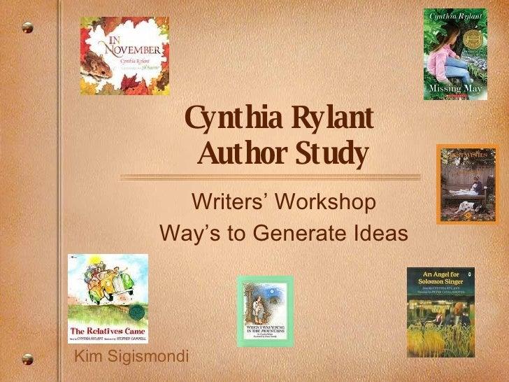 Generating In Writers' Workshop