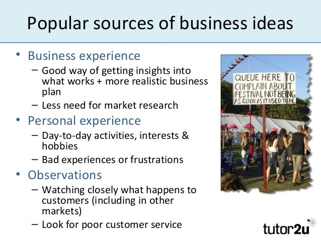Http Www Slideshare Net Tutor2u Generating Business Ideas For A Startup