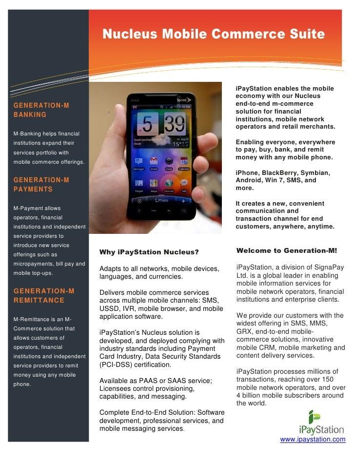 iPayStation Nucleus Mobile Commerce Suite