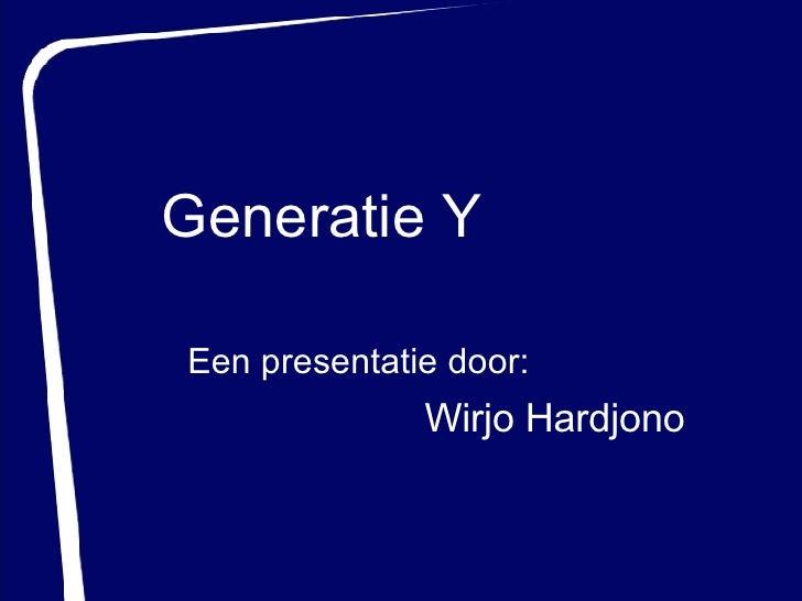 Generation Y - Totaljobs.nl (19-04-2007)