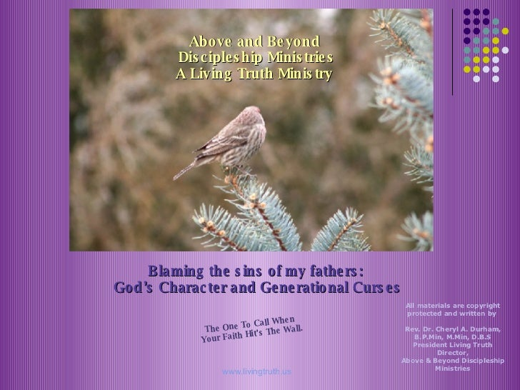 Above and Beyond  Discipleship Ministries A Living Truth Ministry   The One To Call When  Your Faith Hit's The Wall. Blami...