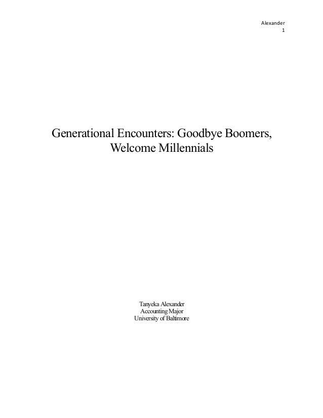 Generational Encounters - Tanyeka Alexander - University of Baltimore (MACPA Student Member)