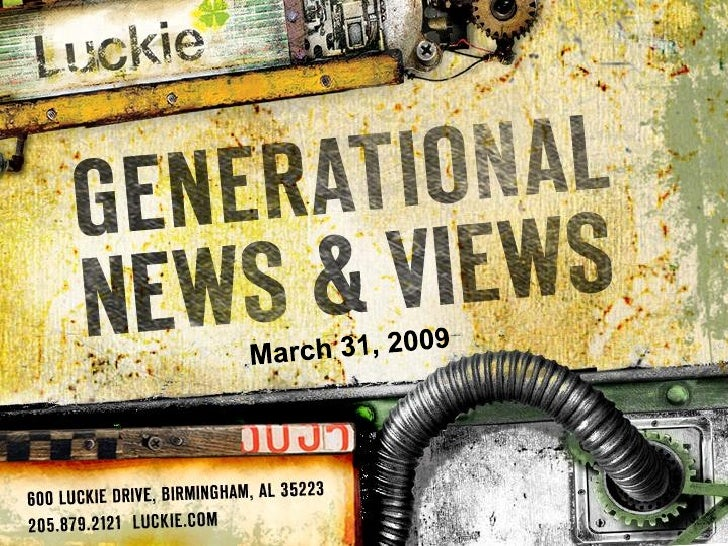 Generational News & Views Newsletter 3.31.09