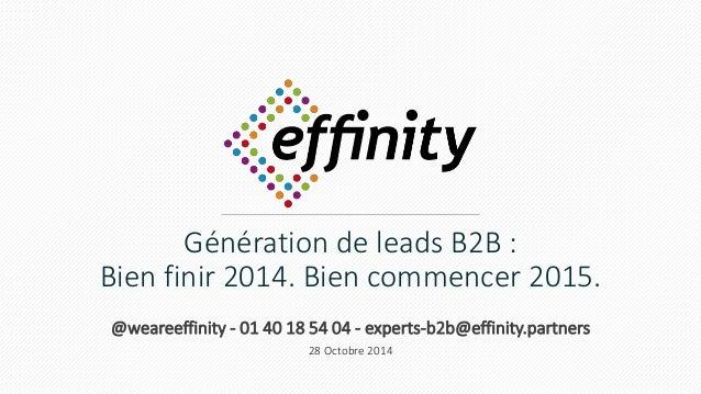 Génération de leads B2B :  Bien finir 2014. Bien commencer 2015.  @weareeffinity - 01 40 18 54 04 - experts-b2b@effinity.p...