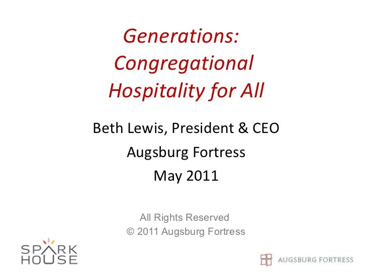 Generations  congregational hospitality for all