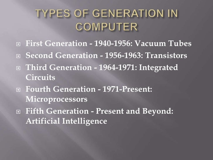 Present Generation Computers Fifth Generation Present And