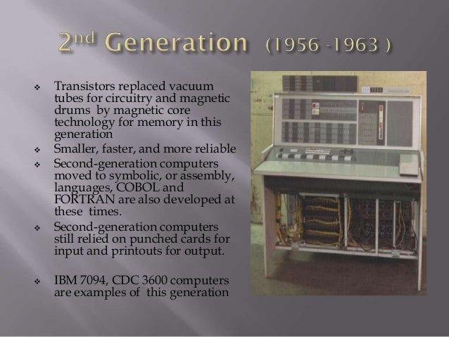 Second Generation Computers Second Generation