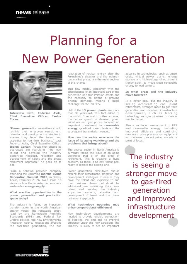 Planning for a New Power Generation Workforce - Federico Avila, Isolux Corsan