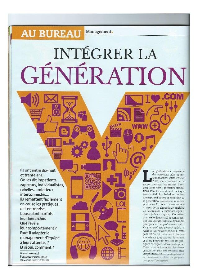 Intégrer la génération Y