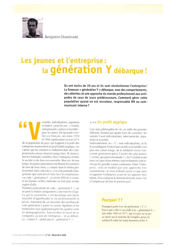 Generation Y et AFCI
