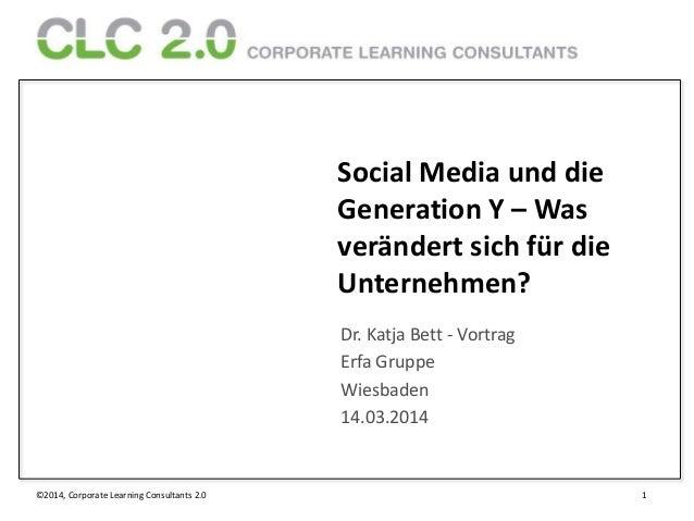 ©2014, Corporate Learning Consultants 2.0 1 Social Media und die Generation Y – Was verändert sich für die Unternehmen? Dr...
