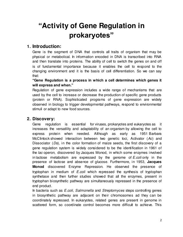 gene expression in prokaryotes and eukaryotes pdf