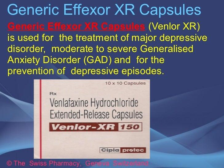 Generic Effexor XR Capsules for Treating Depression