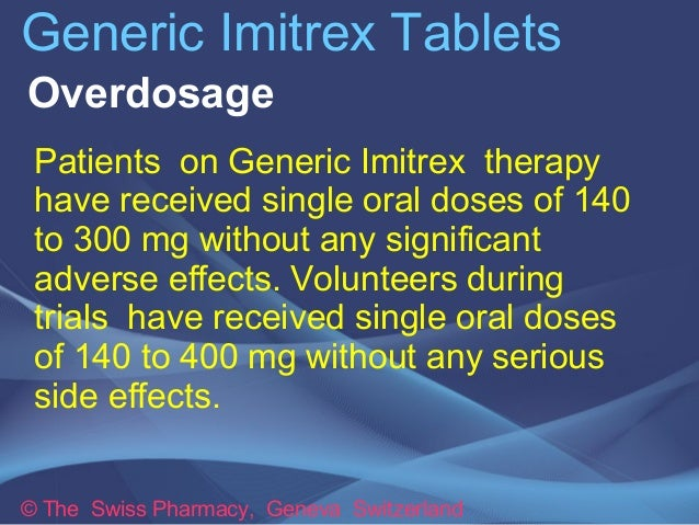 Generic imitrex side effects