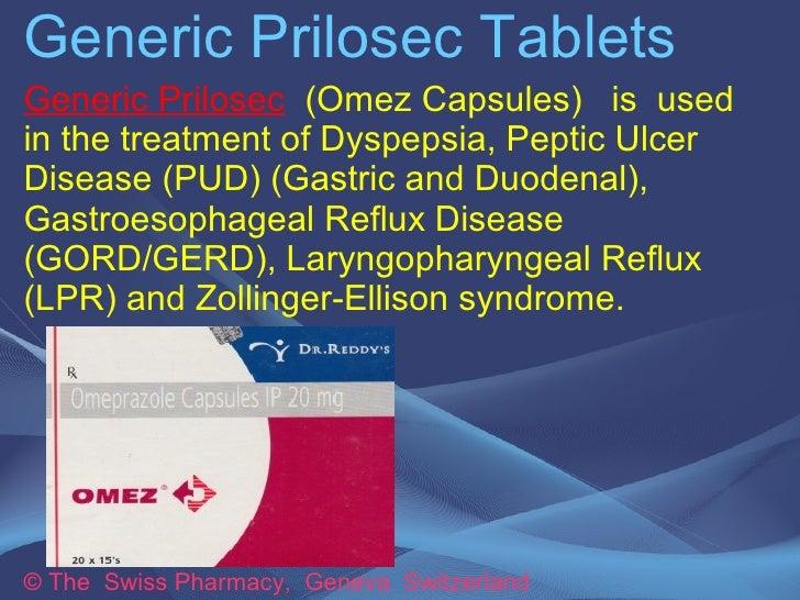 Generic Prilosec Capsules for Treatment of GERD, Gastric & Duodenal Ulcer