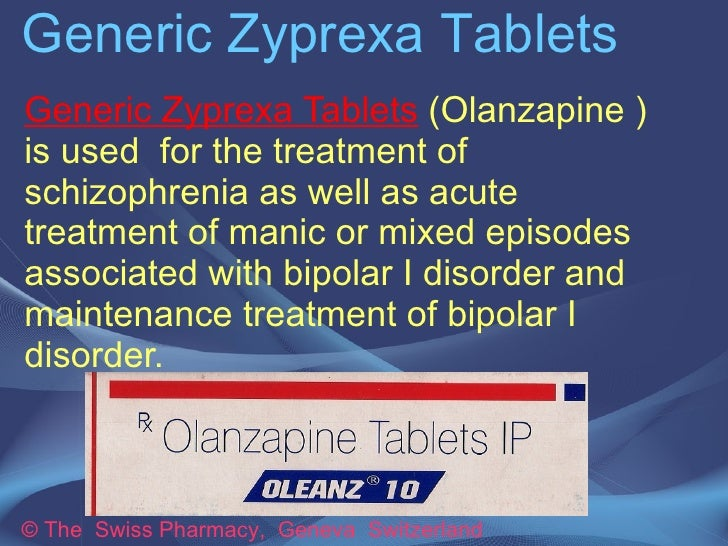 Generic Zyprexa Tablets
