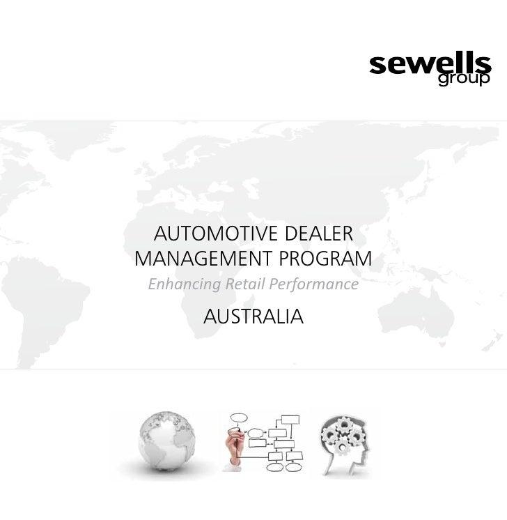 AUTOMOTIVE DEALERMANAGEMENT PROGRAM Enhancing Retail Performance        Australia