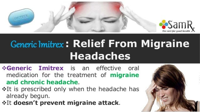Migraine prescription imitrex