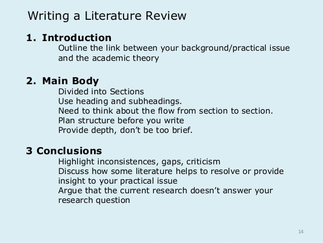 Help me write my literature review