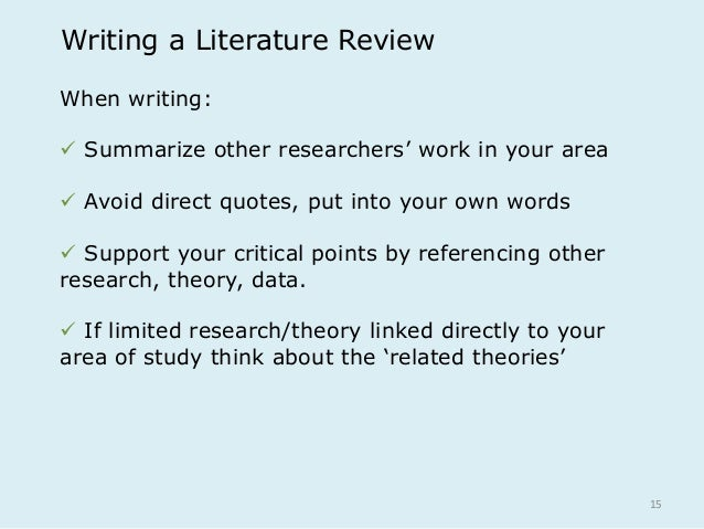 what is a literature review paper in psychology Each has unique requirements concerning the sections that must be included in the paper literature review a literature review is a critical field of psychology.