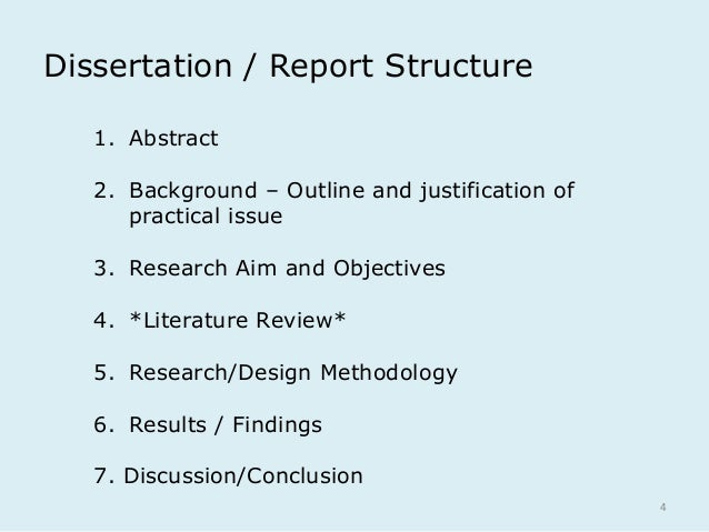 thesis literature review structure