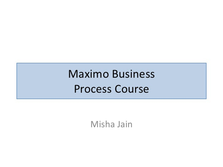 Generic Maximo Business Processes