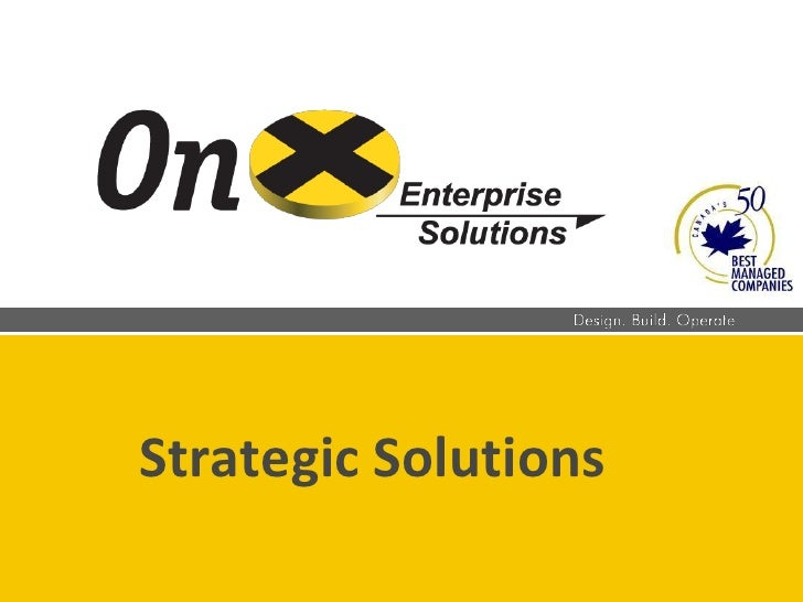 Strategic Solutions<br />
