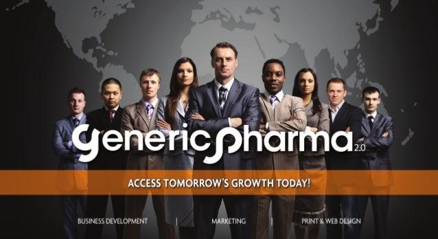 Generic Pharma 2.0   Masters of Business Development & Marketing