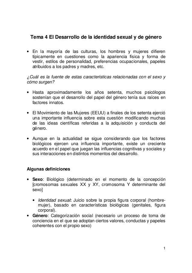 Apuntes TEMARIO SEXO/GENERO