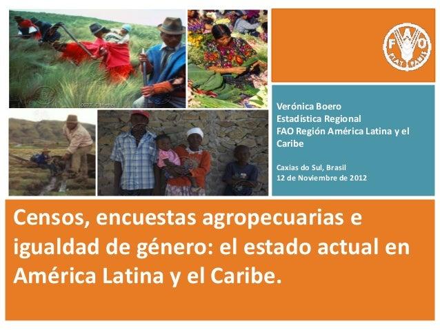 Verónica Boero                         Estadística Regional                         FAO Región América Latina y el        ...
