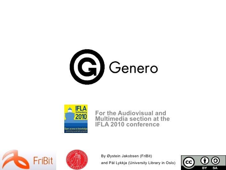 Genero presentation at IFLA