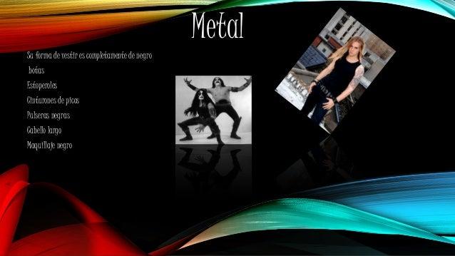 Metal Su forma de vestir es completamente de negro botas Estoperoles Cinturones de picos Pulseras negras Cabello largo Maq...