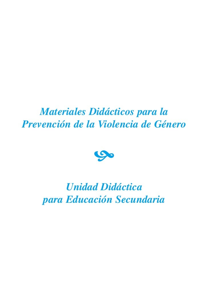 Materiales Didácticos para la Prevención de la Violencia de Género