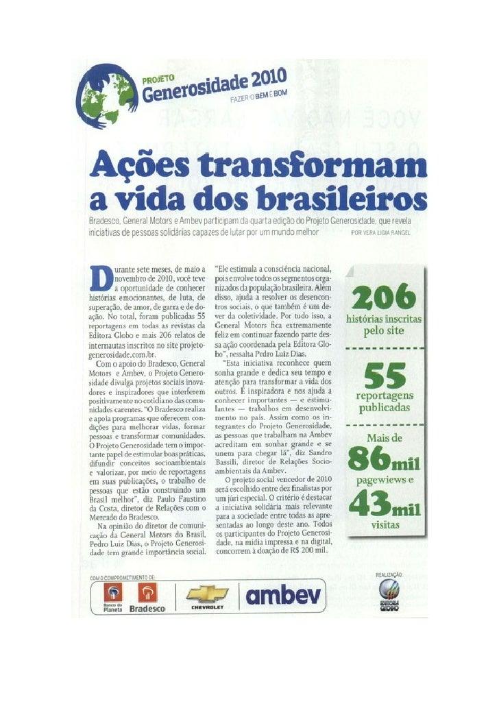 Projeto Generosidade 2010