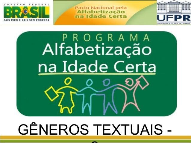 GÊNEROS TEXTUAIS -