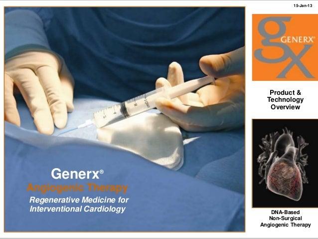 Cardium Therapeutics Generx Presentation January 2013