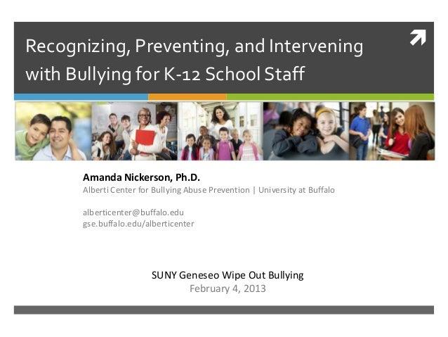 SUNY Geneseo Presentation - February 4, 2013
