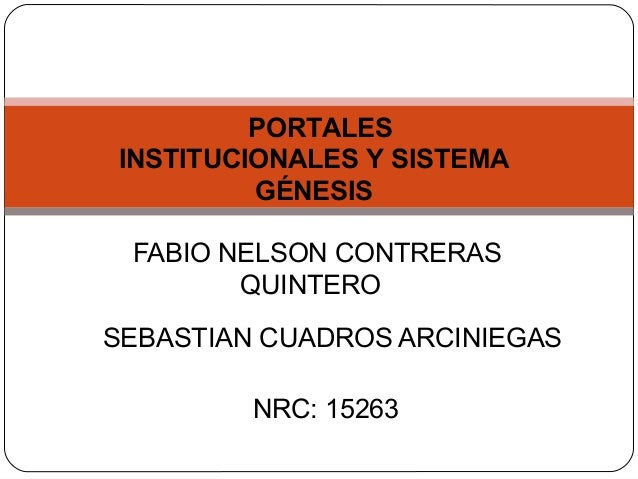 Portal Institucional Y Sistema Genesis.