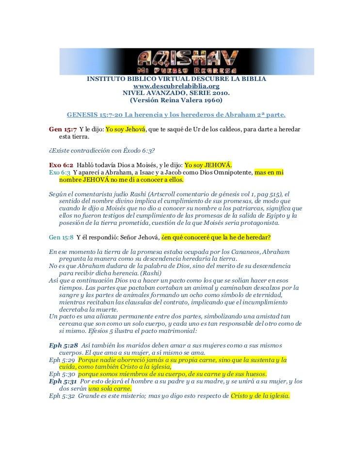 INSTITUTO BIBLICO VIRTUAL DESCUBRE LA BIBLIA                         www.descubrelabiblia.org                      NIVEL A...
