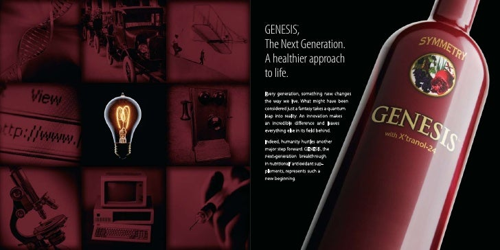 GENESIS,       ™     The Next Generation. A healthier approach to life. Every generation, something new changes the way we...
