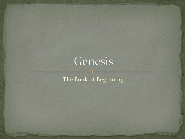 The Book of Beginning