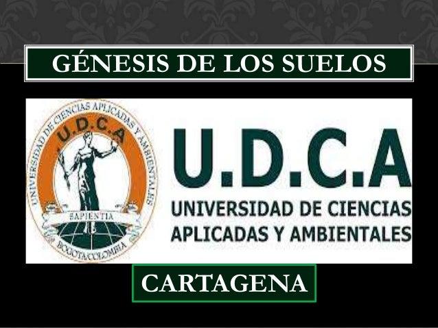 1. GENESIS DE LOS SUELOS. UDCA-CARTAGENA. I- MARRUGOl-K y J.HERNANDEZ