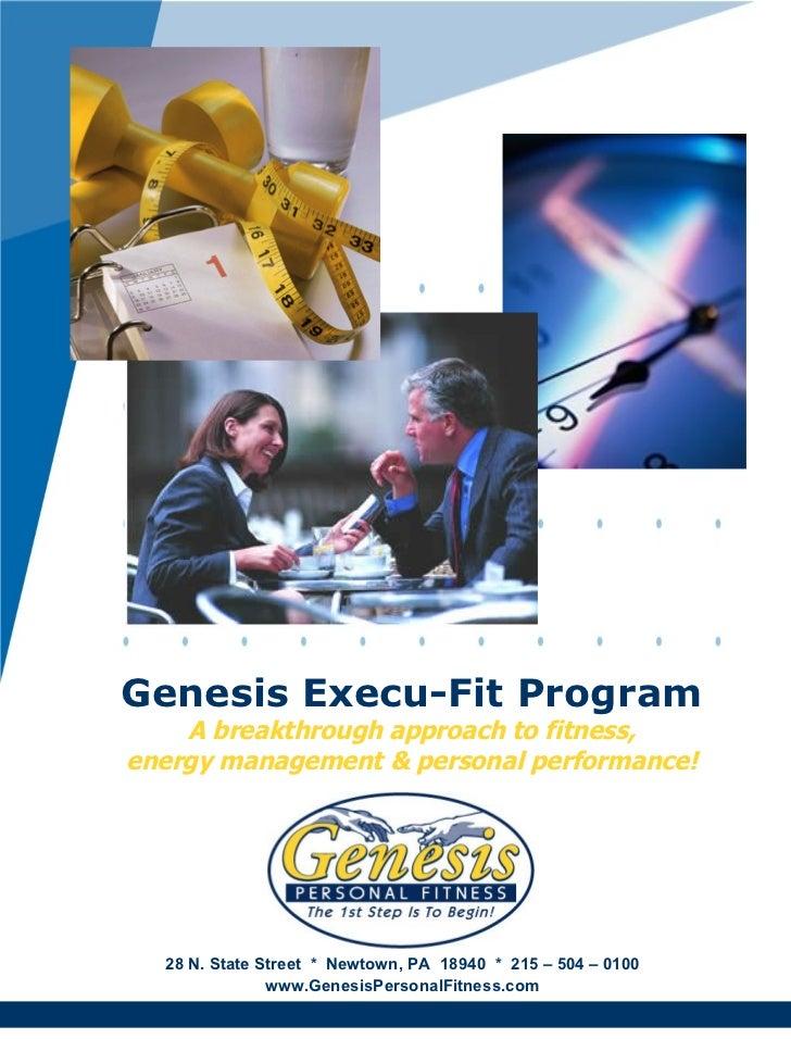 Genesis execu fit program 5-page brochure - final